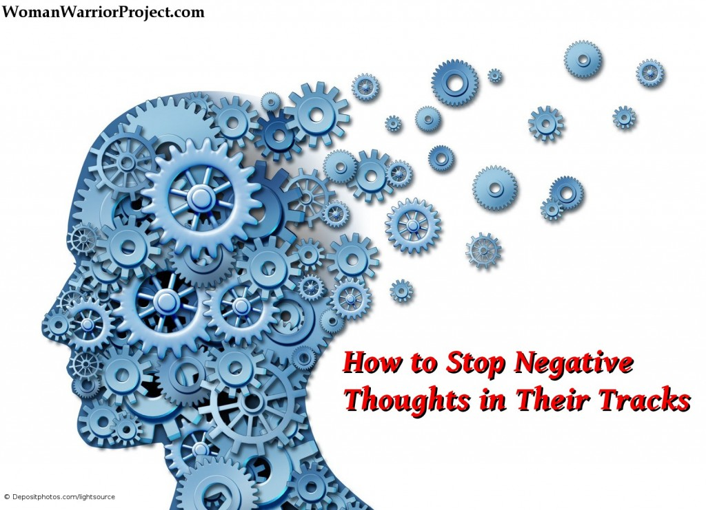 Negative thoughts throw off our ability to function